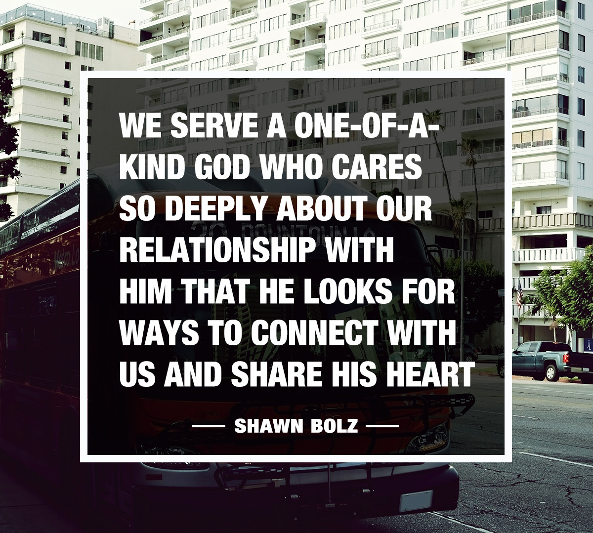 He cares so deeply about our relationship with him that He looks for ways to connect with us!