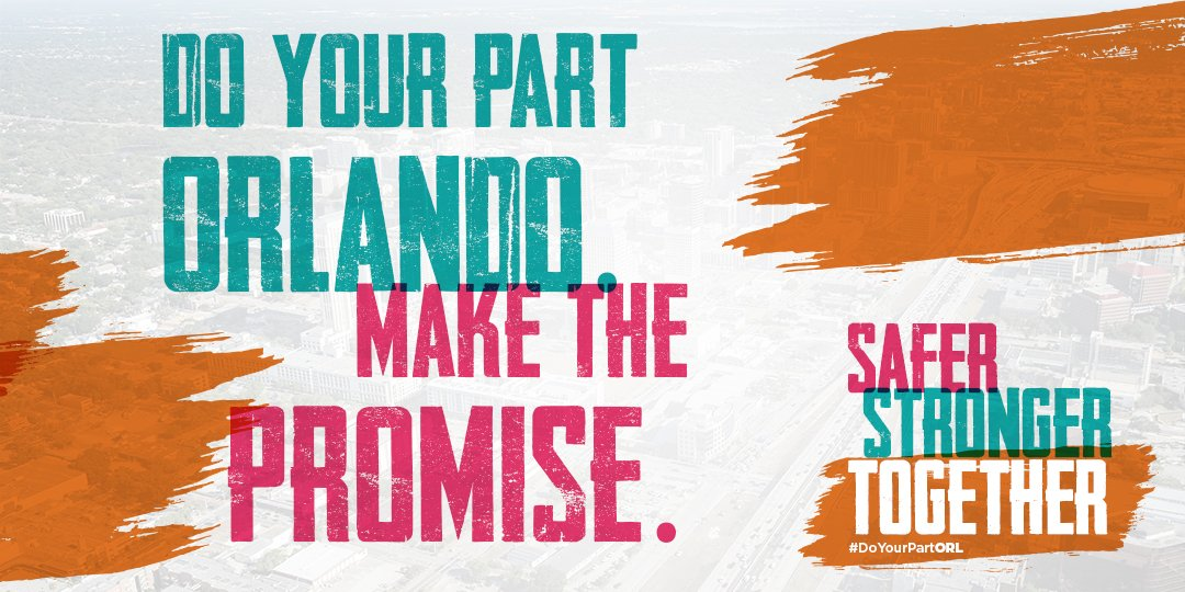 We are Safer, Stronger, Together! 🧡 😷 #DoYourPartORL  @OCFLMayor has launched a new regional campaign to encourage business & resident participation in #COVID19 safety guidelines. He invites consumers to support businesses that adhere to safe measures: https://t.co/Eg1dXvXChn. https://t.co/261zSQvv3g
