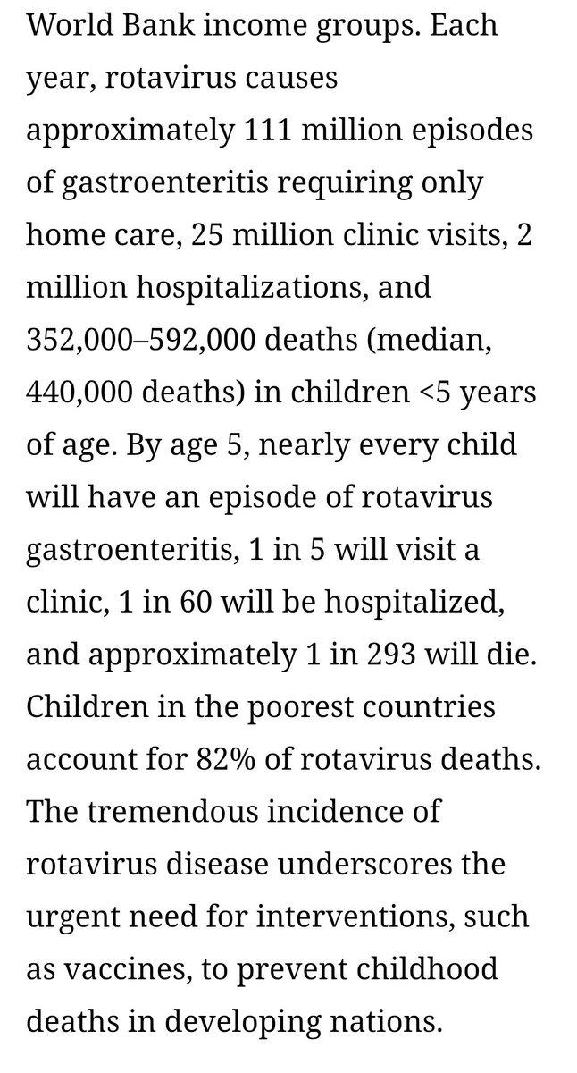 @yann_uk Rotavirus accounts for ~20% of annual diarrhea fatalities and kills ~440,000 children every year