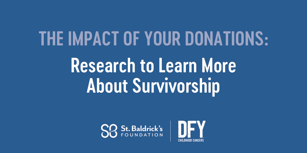 During Cancer Survivors Month we're highlighting 4 areas of research St. Baldrick's specifically funds to help survivors – the 4th of which is research to learn more about survivorship itself. See how your donations are making an impact. Read more: https://t.co/ceLJ249pLv https://t.co/W0jkfSWZ3P