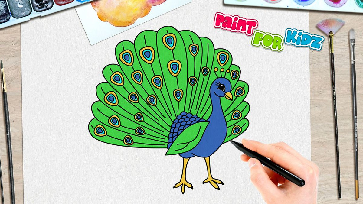Paint For Kidz On Twitter Peacock Drawing Colouring Simple Easy Paint For Kidz Watch The Making Video Https T Co Qawtt9vghi Paintforkidz Peacock India Bird Birddrawing Drawingforkids Colouringforkids Easydrawings