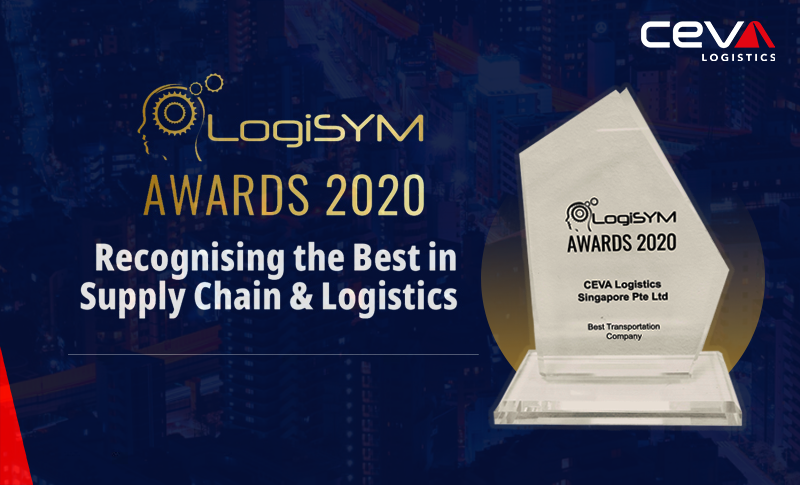 """CEVA Logistics wins """"Best Transportation Company"""" Award at 2020 LogiSYM Awards in Singapore in recognition for its excellence in all aspects of #logistics transportation https://t.co/6xAvHx9XJQ  #CEVALogistics #LogiSYMDigital2020 https://t.co/EoJP91nc9S"""