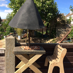 Looking after the squirrels! Brodie (PP) has been busy building a feeding table for the squirrels in his back garden - impressive results we think you will agree!  #forestschool #nature #creativity #prepschool #Dover