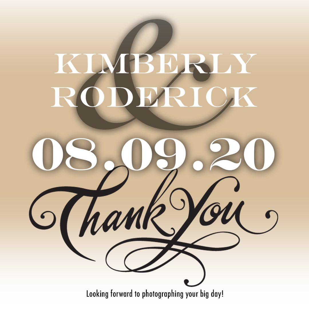 Just booked a August 2020 wedding! Things are opening back up. Thank you Kimberly and Roderick. . Thank you Eric's and @ChrisHazeltonB3 for the referral. . #weddingday #weddingphotography #weddingphotographer #ourday #royalphotokc #weddingplanners