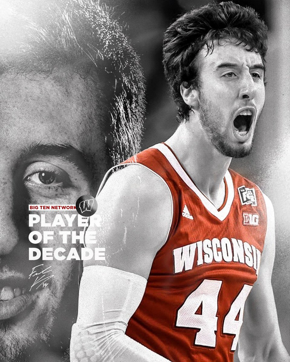 """THE BEST basketball player in the Big Ten during the 2010s decade:  Frank """"The Tank"""" Kaminsky 💯  #OnWisconsin » #Badgers https://t.co/1xATOgK2yq"""