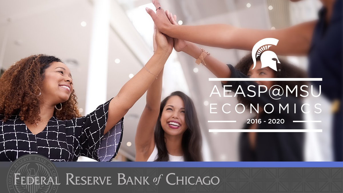 #ChicagoFed is pleased to co-host today's virtual #AEASP20 with @AEASPmsu for a #SummerOfEcon. #FutureEconomists #Welooklikeeconomists https://t.co/8DdN4UlhGB