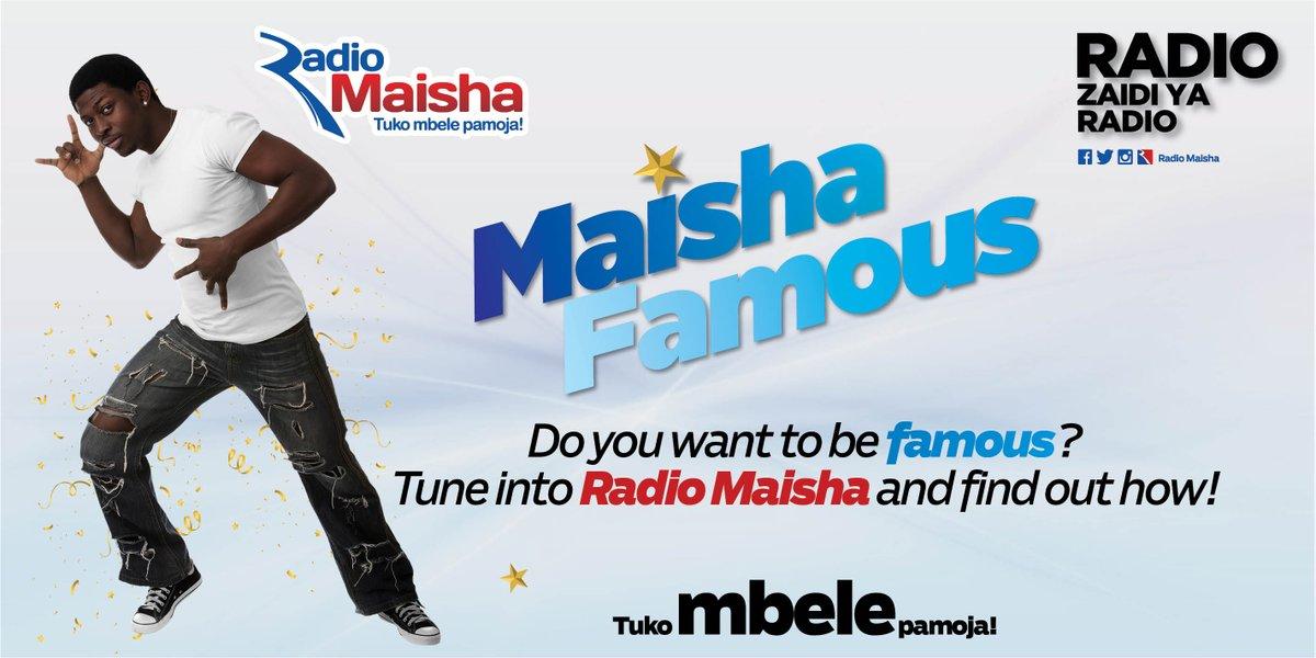 Do you want to be famous? Tune into Radio Maisha and find out how! - #MaishaFamous #NuruYaLugha