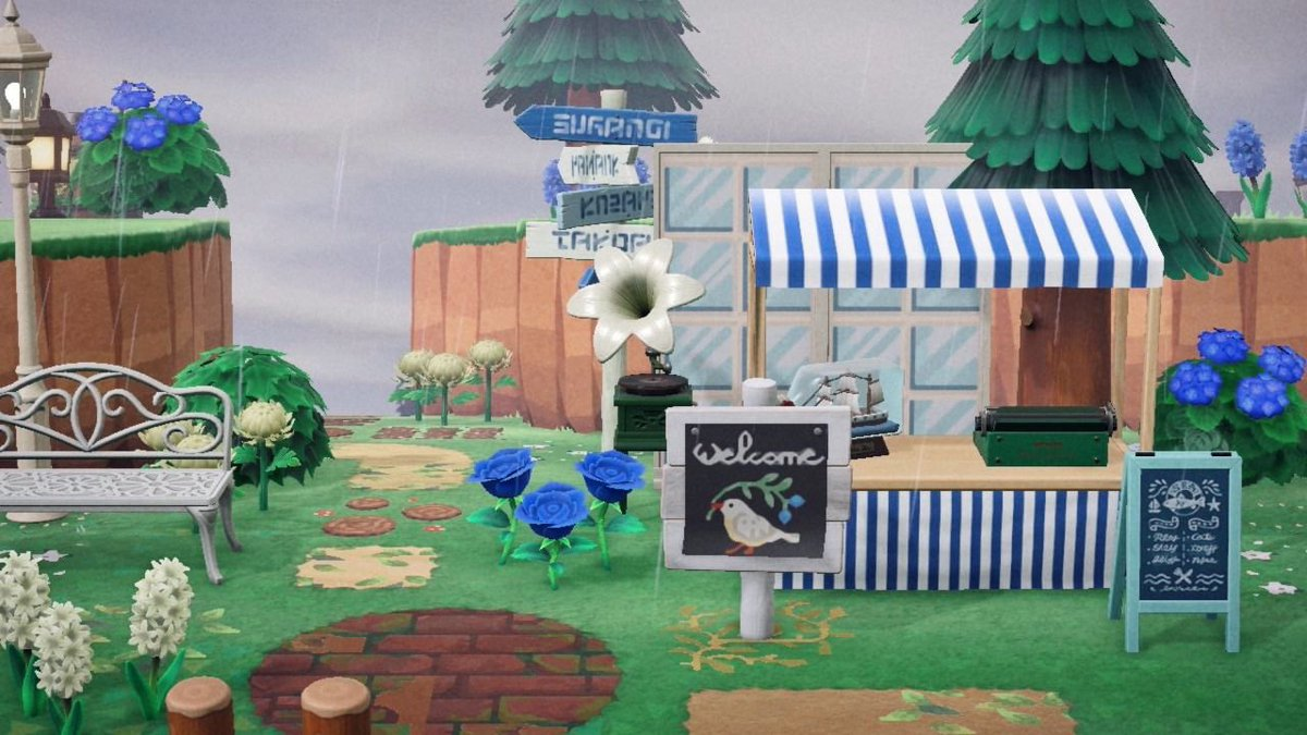 Nicole On Twitter Slight Drizzle On My New Beach Front Fresh Fish Restaurant Acnh Animalcrossing Animalcrossingfishmarket Acnhideas Animalcrossingideas Cottagecore Https T Co Nuv1o6anp5