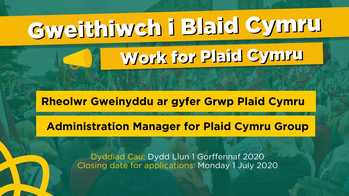 Work for Plaid Cymru! 🏴 Our Senedd Group are looking for an Administration Manager 📒 partyof.wales/swyddi_jobs