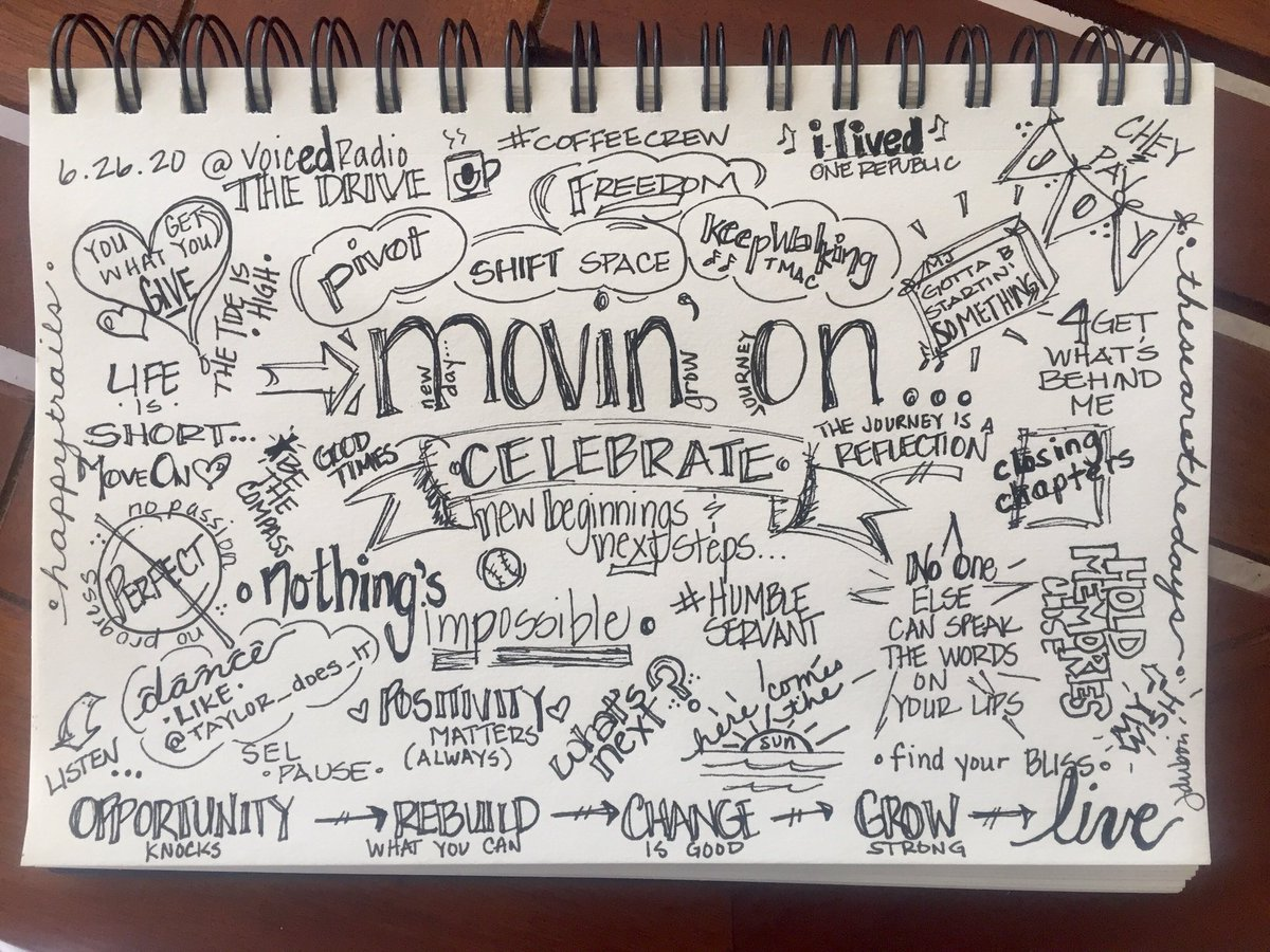@TheDriveVoicEd I ran out of room. SUCH meaningful talk today. #impartEDjoy #coffeecrew ♥️
