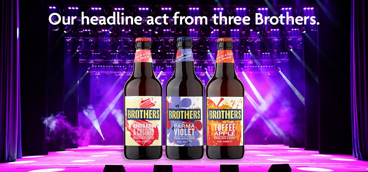 There might be no Glastonbury this year but we've got a headline act from three Brothers, just 3 for £5.  #Glastonbury #Brothers #Festival #Cider https://t.co/f85XBfhKTu