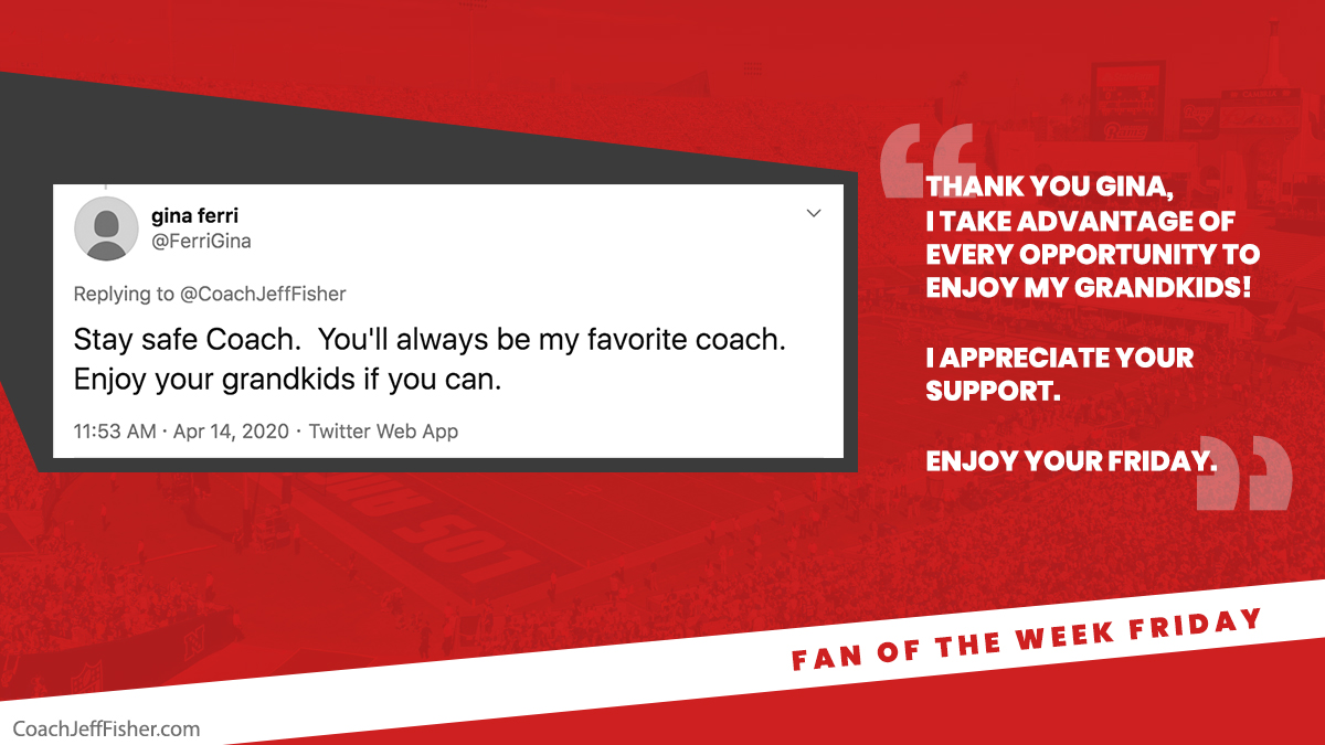 #FanOfTheWeekFriday  Thanks for the kind words @FerriGina 🙏  Appreciate you! https://t.co/1RkHPEwswc