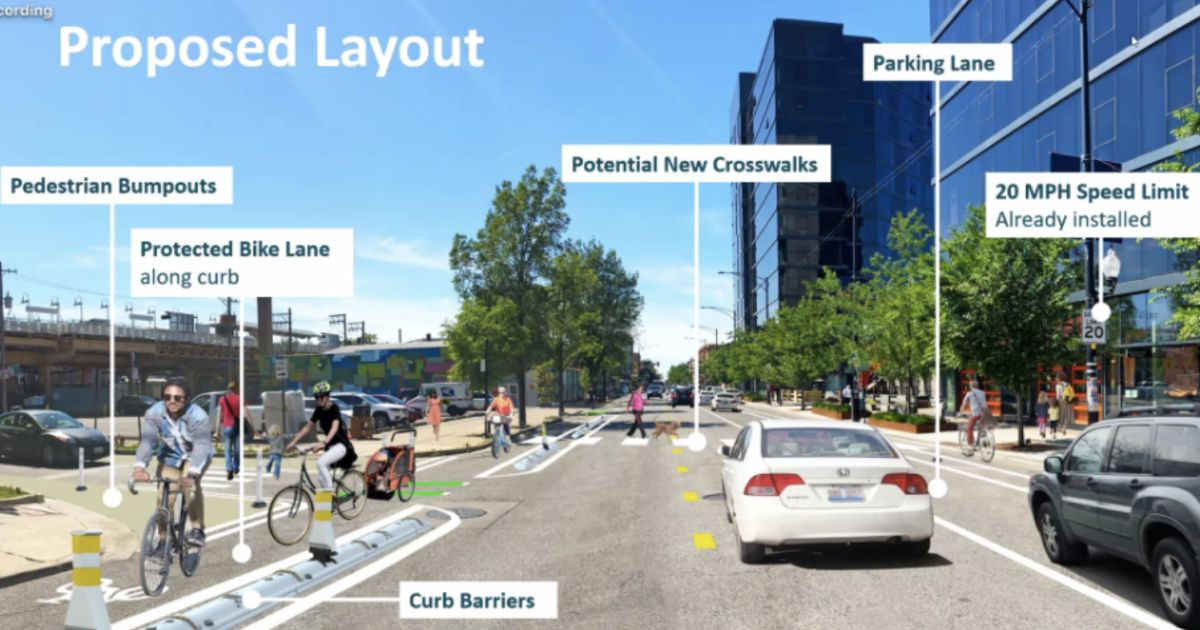 A dangerous stretch of Milwaukee Avenue in Logan Square is getting protected bike lanes and new crosswalks. https://t.co/UmMgEhOpe5 https://t.co/x4qINSota5