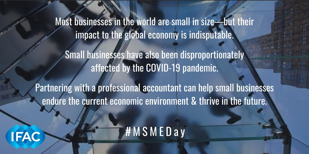 Partnering with a professional accountant can help small businesses endure the current economic environment & thrive in the future. #MSMEDay bit.ly/3cv4MQe