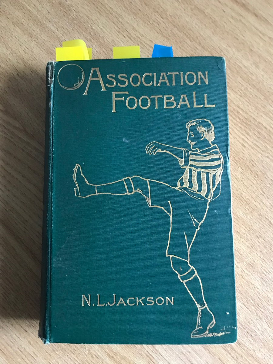 Pa Jackson said there had been a great desire by Lancashire to get the headquarters of the @fa transferred to Manchester. They knew that Alcock could not act as secretary and therefore hoped to acquire the position for one of their leaders. Association Football 1899 N.L. Jackson https://t.co/8nXxDuiX77