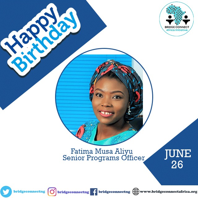 Happy Birthday @oyizatee from all of us @BRIDGECONNECTNG. You are an amazing leader and always inspire us to continue the work we do. I celebrate you today and always. https://t.co/ygcBGZkRB9