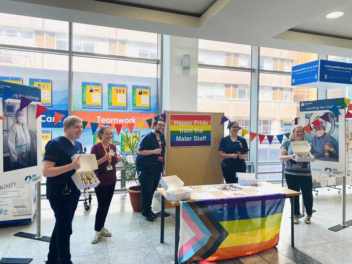 Happy #PRIDE2020 from the Nursing Team in the #MaterHospital #DublinPride