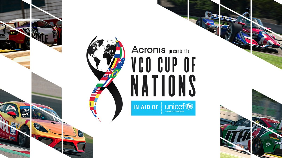 📢// New Tournament in aid of @UNICEF The VCO Cup of Nations brings international knock-out competition to @iRacing on July 25/26 🌎🏆 Represent your country in the fight for glory & the £7500 prize pool💰 Find out more, including how to enter, at: vco-motorsports.com/vco-cup-of-nat…