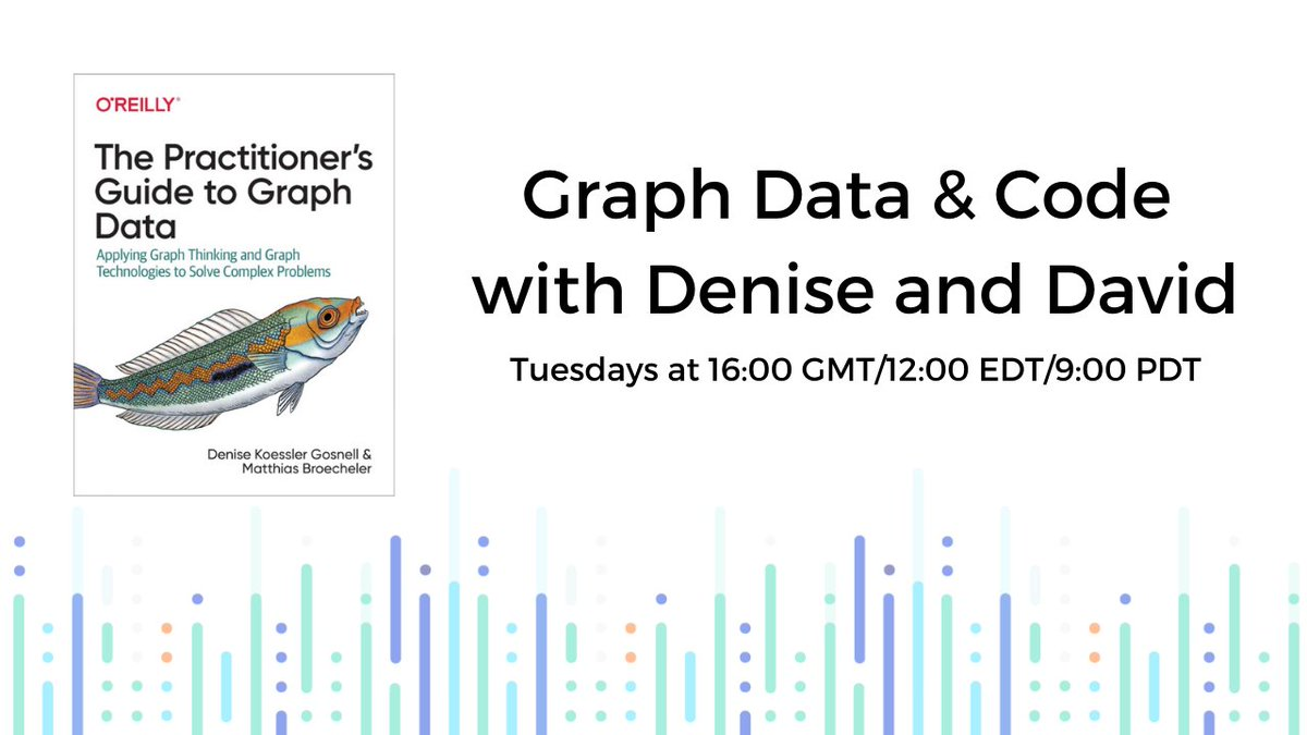 Tune in next week for a new episode of Graph Data & Code with @DeniseKGosnell & @SonicDMG! Join us as we cover advanced Gremlin from Chapter 5 of @Graph_Thinking. https://t.co/y0P9g7bNh7 #GraphDB #GraphAnalytics https://t.co/Y3Zx6nK3PF
