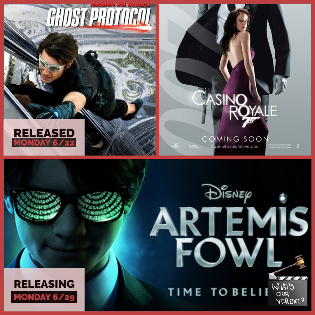 Did you miss our podcast Arbitration of Ghost Protocol vs. Casino Royale? Which spy would you rather have on your side? Check out our release of Artemis Fowl this coming Monday.  #ArtemisFowl #ArtemisFowl #missionimpossible #JamesBond #MovieReview #newmovie #movierelease pic.twitter.com/KWaHO81ai2