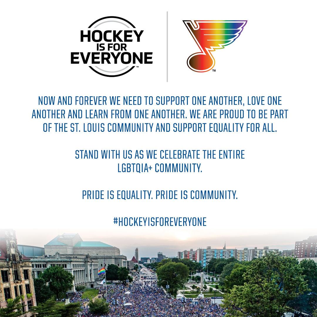 Pride is equality. Pride is community. #HockeyIsForEveryone