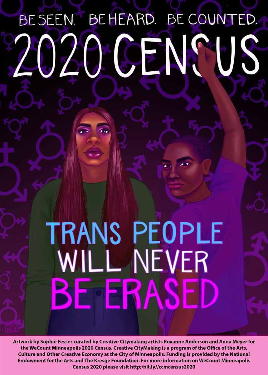 In partnership with Creative CityMaking artists, Sophie Fesser created a moving piece of artwork centered in the value of Trans lives. As we work towards an accurate census count, it is important to acknowledge the communities who, for too long, have gone undercounted. https://t.co/RorT0YHfjQ