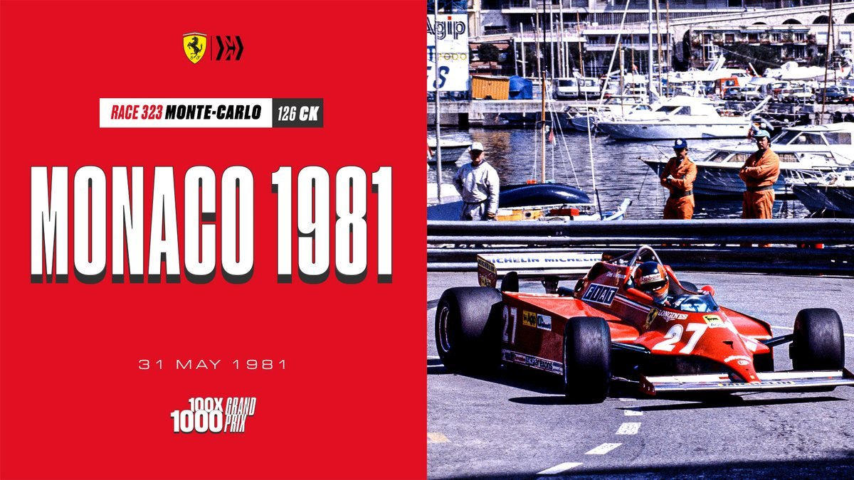 On 31 May 1981, the roulette ball stopped on no. 27 - that of Gilles Villeneuve's Turbocharged Ferrari 🎰 The Canadian and his Ferrari 126 CK wrote a new chapter in the history of #F1. bit.ly/MonacoGP_1981 #essereFerrari 🔴 #100x1000GP #RoadTo1000