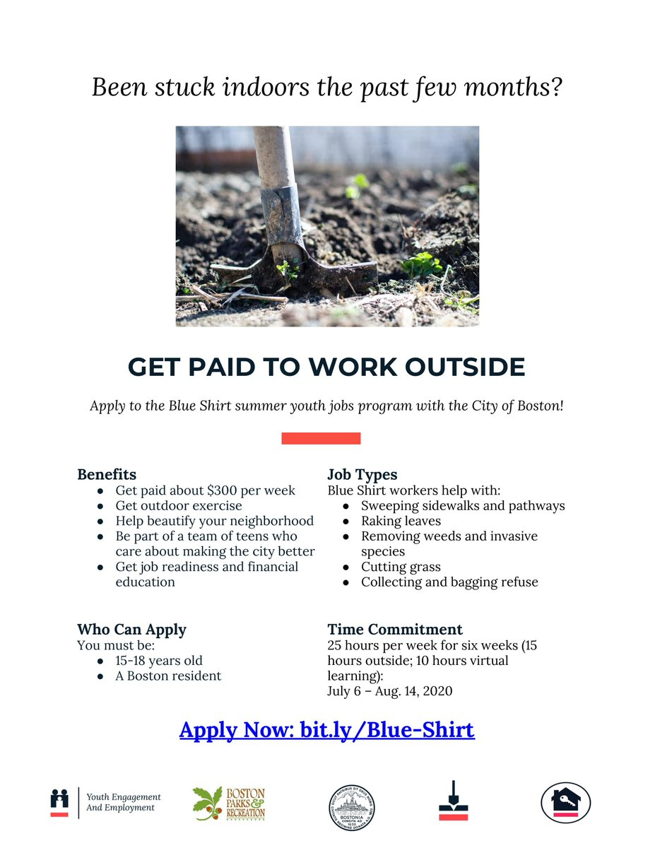 Mayor Marty Walsh On Twitter There Are Still A Few Days Left To Apply For The Cityofboston S Blue Shirts Summer Youth Jobs Program If You Know Of A 15 18 Year Old Looking