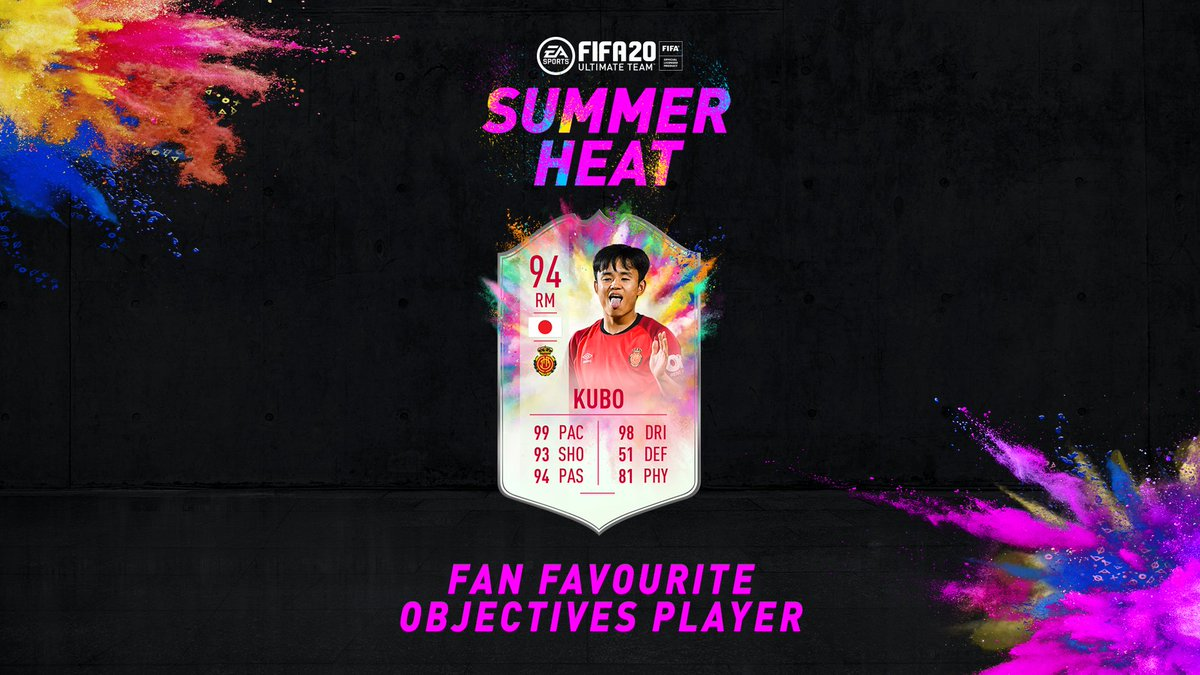 Pace for days 🏃‍♂️😅 #SummerHeat☀️🔥 Fan Favourite Objectives Takefusa Kubo is live in #FUT20