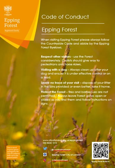 Please note this useful code of conduct for visiting #EppingForest.  Thank you for helping us to look after London's great Forest. https://t.co/3YG12dRLRx