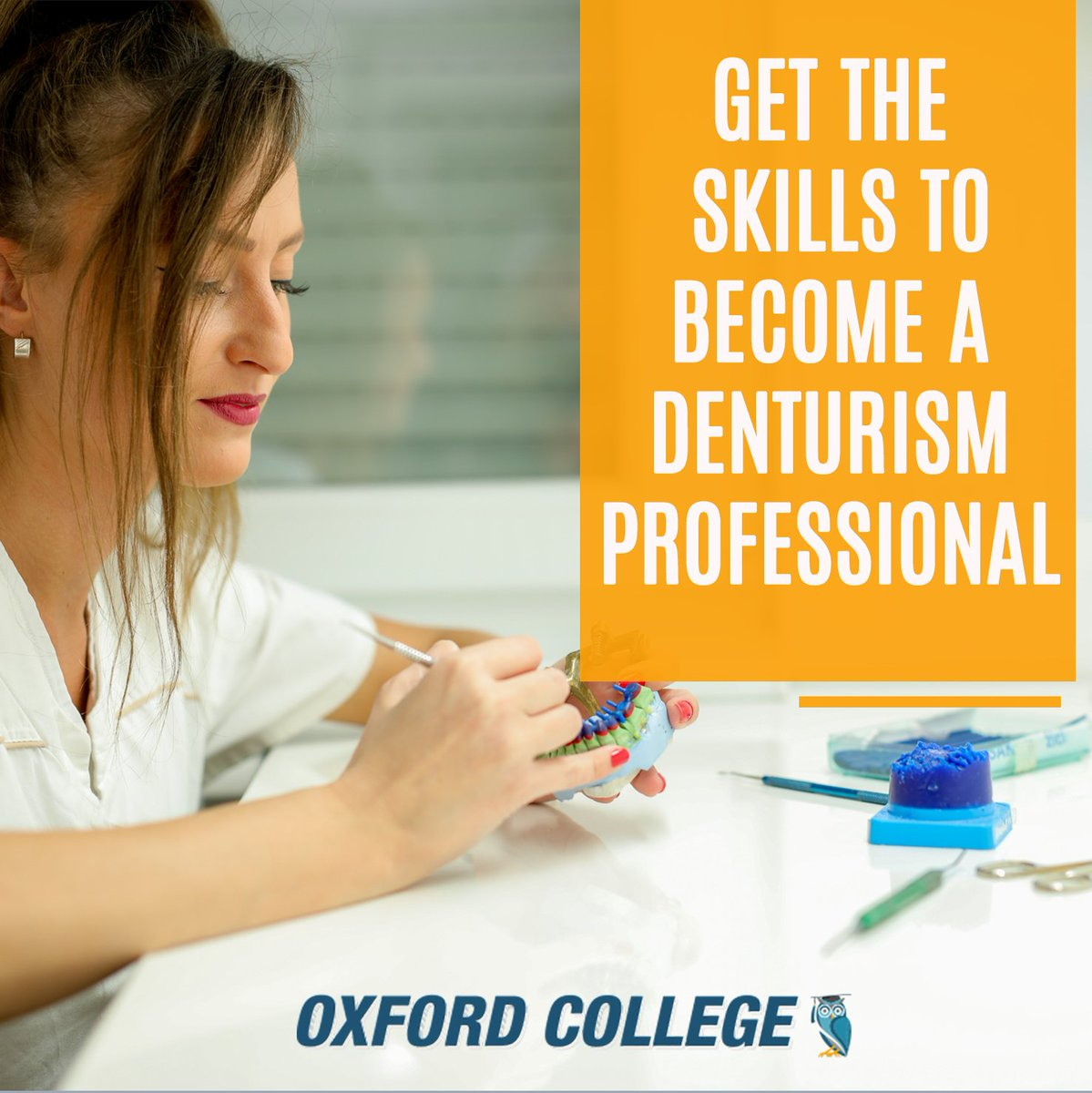 #Denturism is one of the most unique and highly skilled #healthcare professions in #NorthAmerica and #OxfordCollege is one of the only private colleges in #Ontario that offers this program.  Interested? Discover more: https://hubs.ly/H0ryFdP0  #OxfordCollege #OxfordEdupic.twitter.com/YomuyKd48M