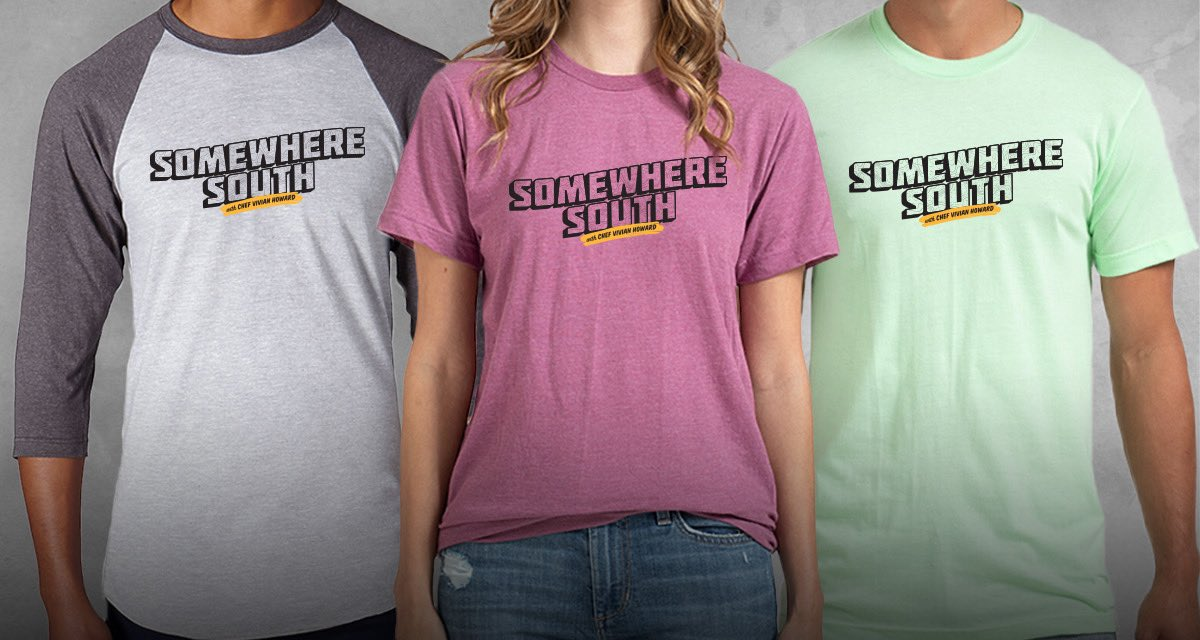It's t-shirt time! ☀️😎 Get your hands on this limited run of Somewhere South merch: https://t.co/4LVjlB5ipZ  #SomewhereSouthPBS #merch #tshirttime #tshirtweather #tshirt #somewheresouth https://t.co/VGxAiNmxig