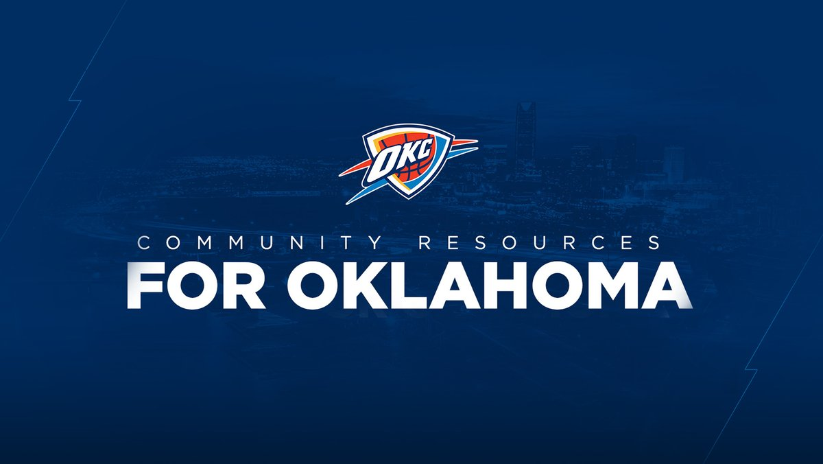 Now more than ever, Oklahoma's community organizations are working tirelessly to keep us safe, informed & connected.  Please visit the 🔗 below for resources offering info, tips, and vital support for those who need it.  🤝 | https://t.co/47pd1jnKoJ  #ThunderCares | #NBATogether https://t.co/xtT5jTBiGw