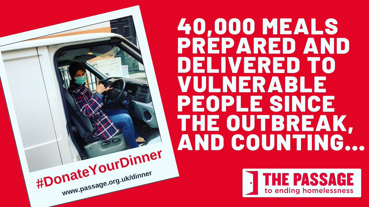 End your week right by helping vulnerable people to stay healthy & hydrated during the #heatwave! Fund an emergency food parcel: passage.org.uk/dinner 40,000 meals delivered so far thanks to people's generosity and the work of frontline staff & volunteers! ❤️ #DonateYourDinner