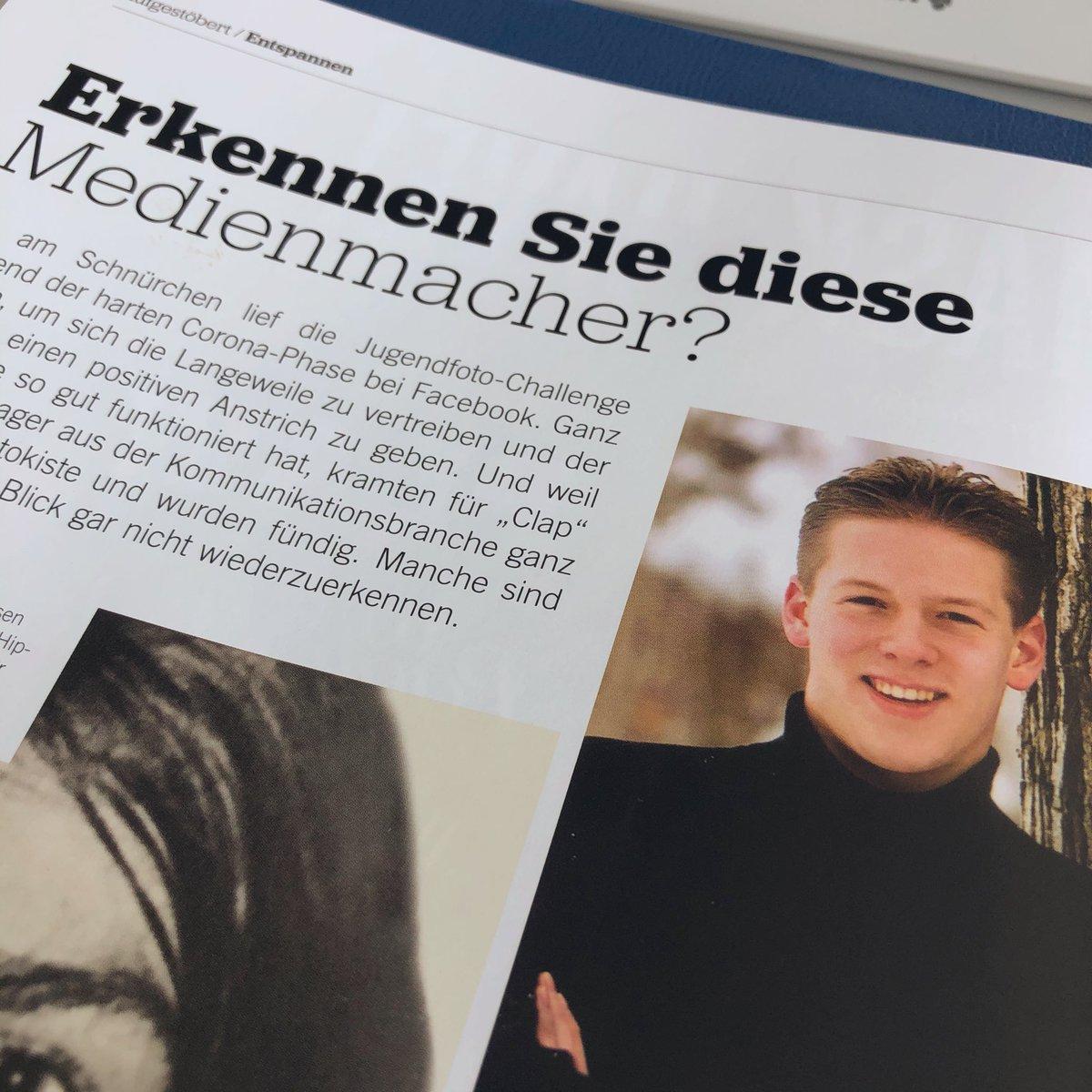 Jugendfoto-Challenge geht auch offline! 👉🏻 Das neue #clap Magazin ist da. #highschool #seniorpicture #graduation2001 @newshausen #bijanpeymani https://t.co/xjgjSigEVw