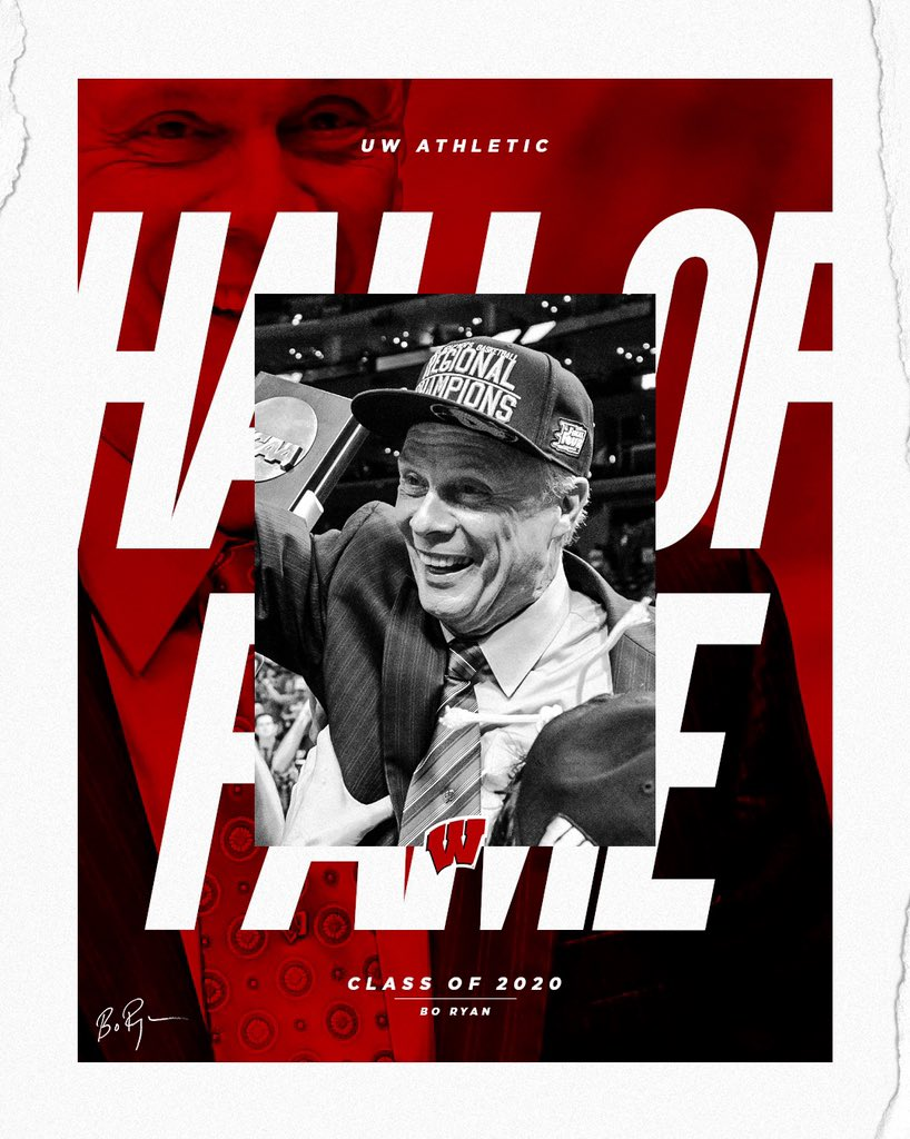 It was only a matter of time  Bo Ryan, welcome to the UW Athletic Hall of Fame Class of 2020  🔗 https://t.co/Ov8XyVj2EE https://t.co/2TUYgT9EFT
