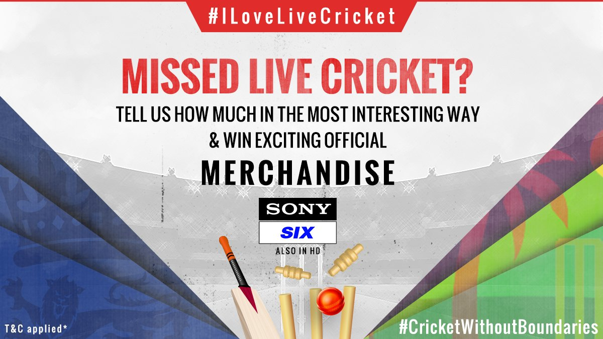 #ContestAlert  Take part and win BIG   - Comment how much you missed LIVE cricket in the most unique way (images, videos, etc). - Tag @SonySportsIndia and use #ILoveLiveCricket & #CricketWithoutBoundaries - Nominate 2 friends. #Contest #CricketContest <br>http://pic.twitter.com/z7UX5gBhZd