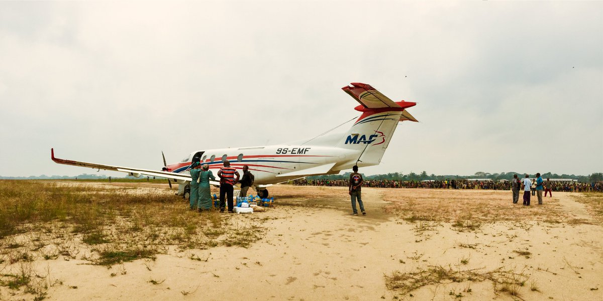 Our team in the West Democratic Republic of the Congo shared these photos from a trip they took yesterday! Nick and Dan piloted the PC-12 as they visited 3 different airstrips, over 750 nautical miles, in under four hours! #iflyMAF #75YearsofMAF