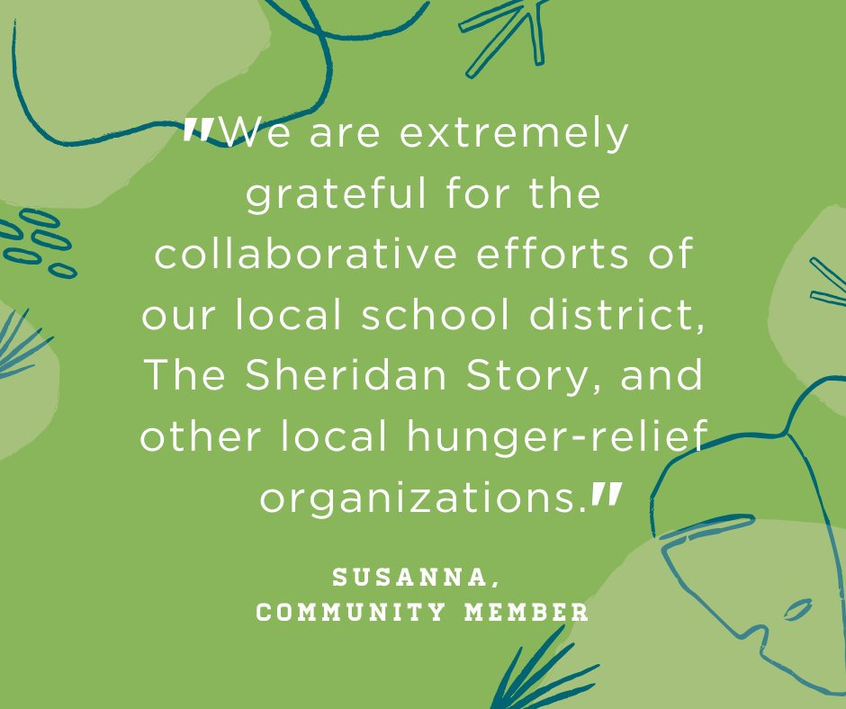 When Susanna's husband had to close his small business due to the stay-at-home order, they knew finances would be tight for their family of three children. Read more about how they've been able to turn to the community & The Sheridan Story for support.