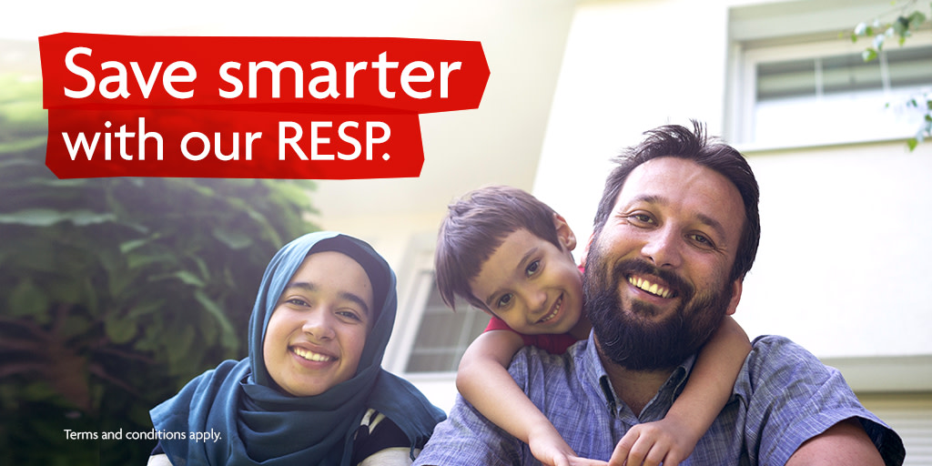 Saving for your children's future is as important as ever. For a limited time, if you set up or increase a Pre-Authorized Contribution towards a qualifying RESP, we'll add a bonus $100. T&Cs apply. Learn more at https://t.co/bS7tj7jpGk. https://t.co/K4JwPI3rkA