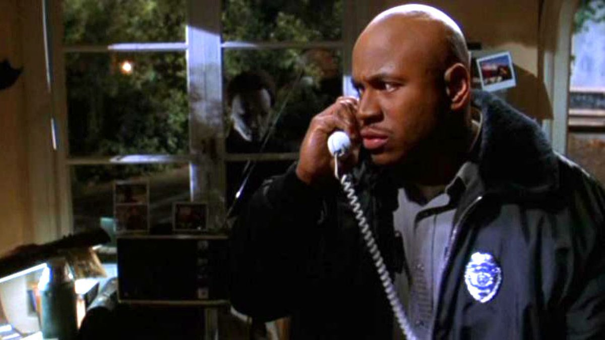 Today, we recognize @llcoolj in two of my favorite movies. We all remember him as the romantic, invincible security guard in #halloweenH2O and the lovable chef w/bird in #deepbluesea. Hes truly the ambassador of the #finalguy in an horror movie. #BlackMenofHorror
