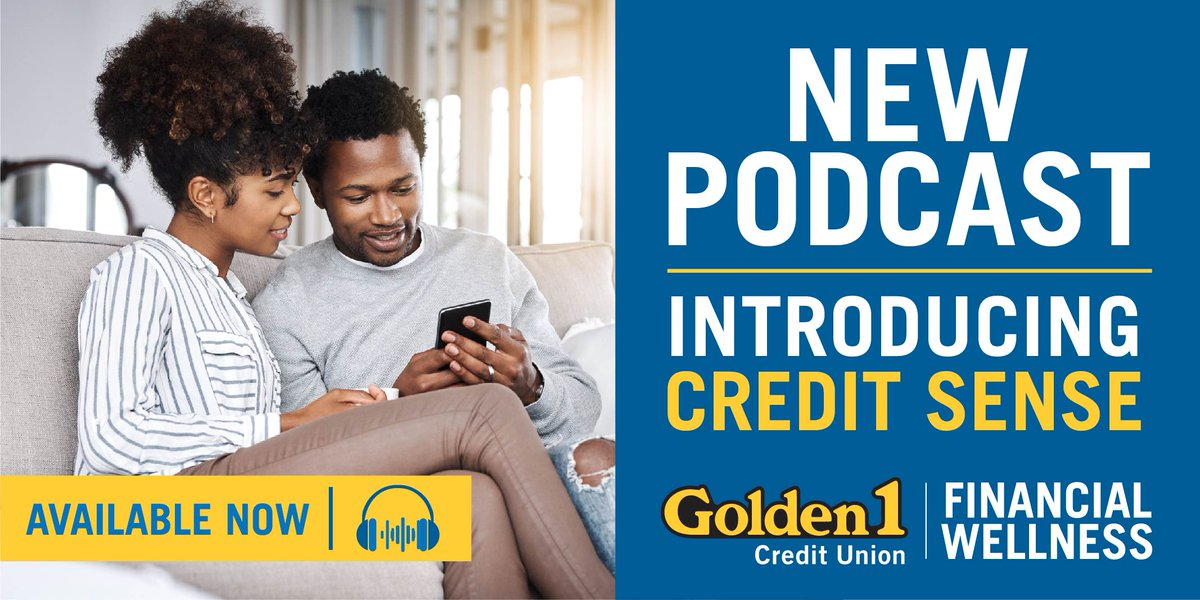 """Monitoring your credit may help you achieve your financial goals. Our newest podcast called """"Credit Sense"""" explains this comprehensive tool that we now offer to every member. It will even monitor for fraudulent activity. Listen on Apple, Spotify, and Google Podcasts. 💻 🎧 📲. https://t.co/uZNBHMwYuZ"""