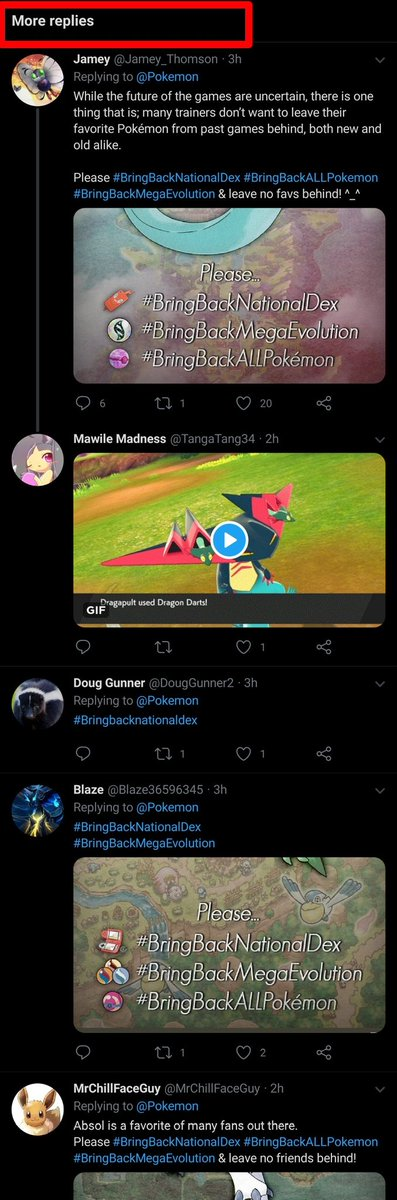 Attention all #BringBackNationalDex supporters:  Recently I discovered that replies including hashtags or links now consistently end up at the bottom of the comment section where no one can see them.  Keep this in mind when making dexposts. Do with this information what you will. <br>http://pic.twitter.com/QmuHh4j9jN