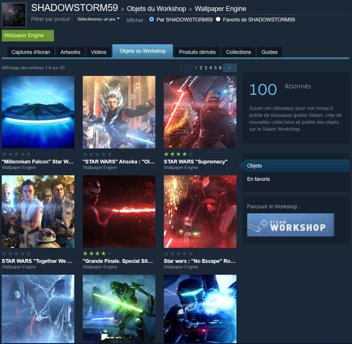 Shadowstorm59 On Twitter I Reached 100 Followers On Steam Today For My Live Wallpapers Some Have Thousands Of Downloads Thank You Starwars Https T Co Ydk5p7iqts