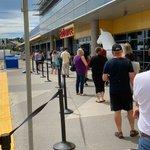 Image for the Tweet beginning: IKEA Calgary, following social distancing