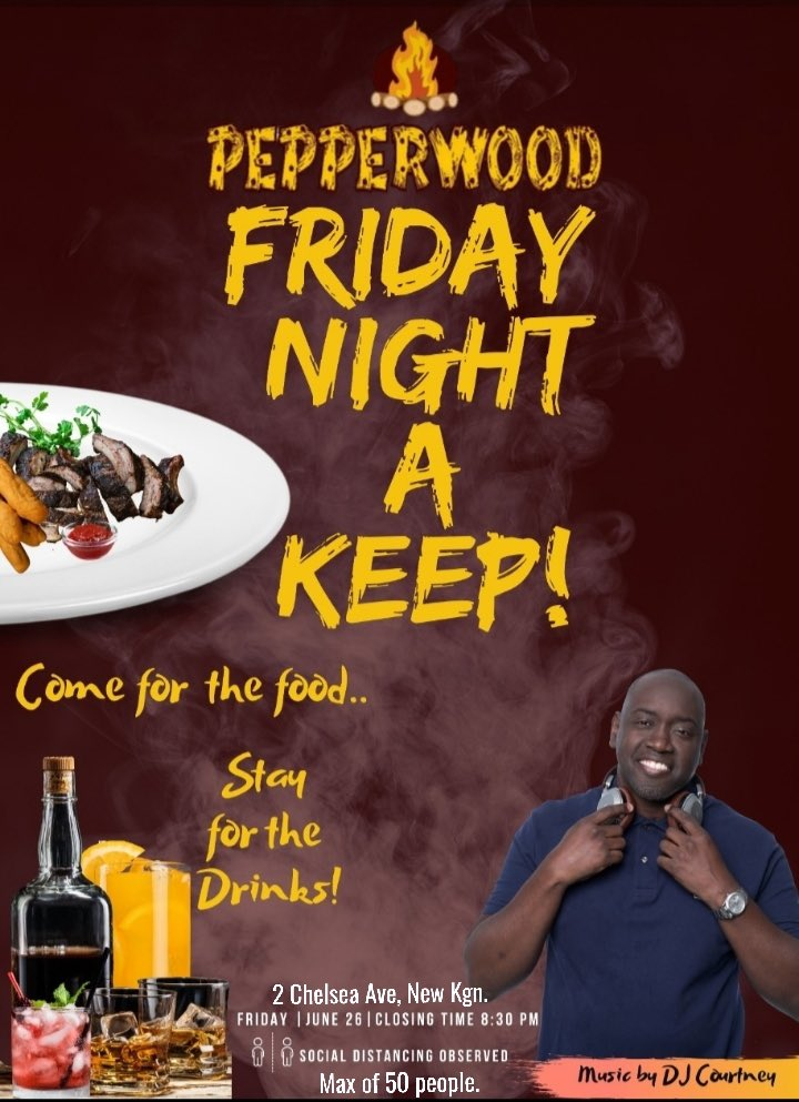 Today @ Pepperwood Jerk #Food #Drinks #Music #AfterWork #WhoIsHere #DJCourtneyJm #AlwaysGiveThanks <br>http://pic.twitter.com/22z70URDqa