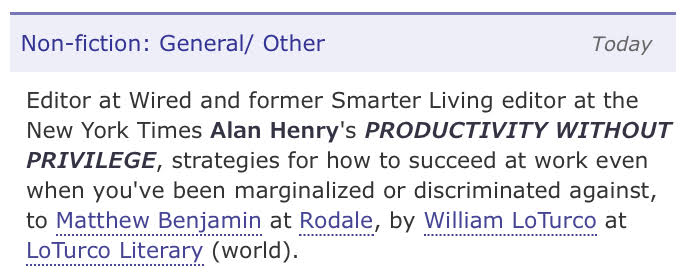 Hi hello! Some ~ personal news ~ and a whole different kind of Friday news dump - I'm writing a book!   It's all about how to succeed when you're a marginalized person in your space, especially when the usual productivity advice doesn't work for you.