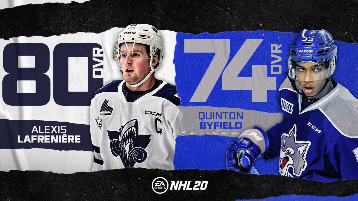 Some great players are available in this years draft 👀 Agree with Lafreniere and Byfield's current #NHL20 Ratings?