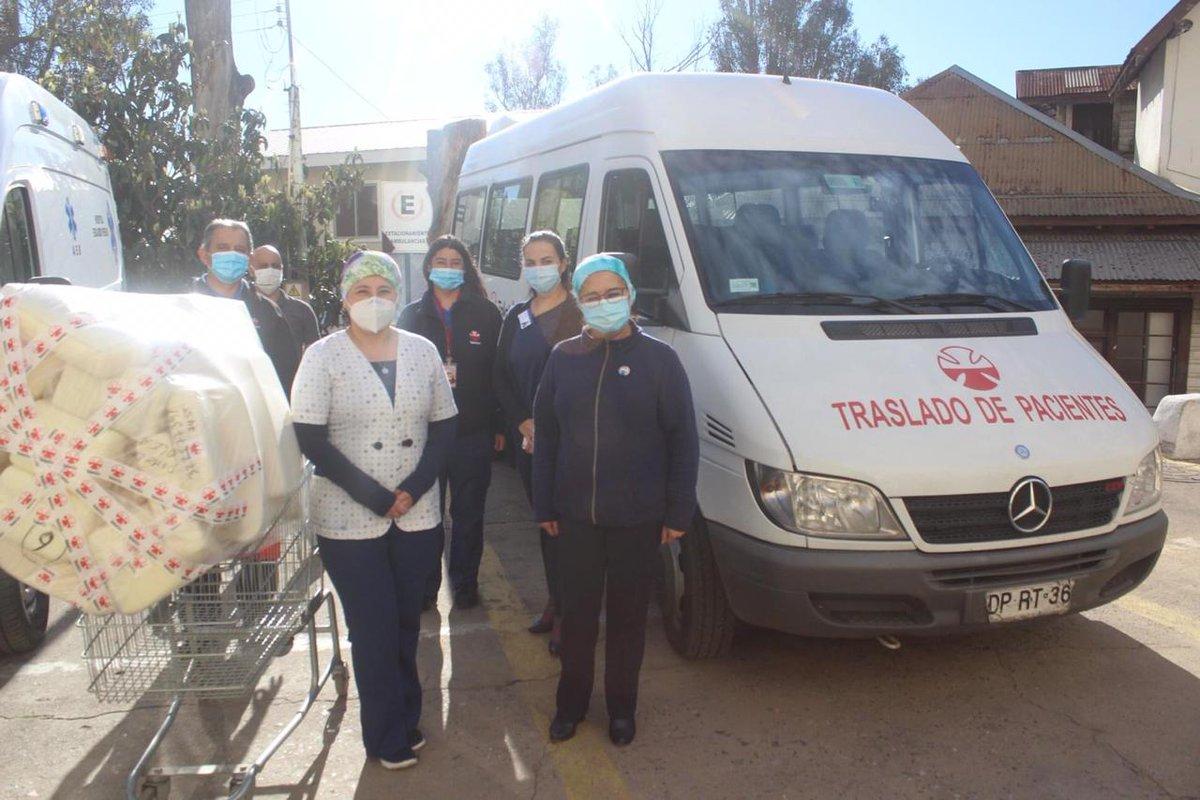 Esta semana #Teletón realizó  entregas de set de posicionamiento prono, a los hospitales de Valparaíso, San Antonio, Santiago y Temuco. En beneficio del tratamiento de los pacientes Covid-19 💪 https://t.co/lwwm8yVZrv
