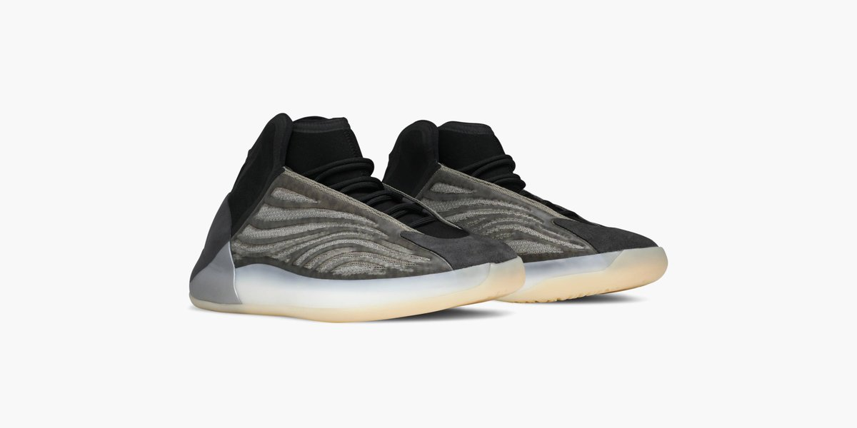 The Yeezy Quantum is the result of Kanye's design vision of an off-court silhouette driven by performance basketball inspiration. This 'Barium' colorway arrives in full-family sizing, available on the app: https://t.co/Rmamb4oCEy https://t.co/Gz0dKCimR1